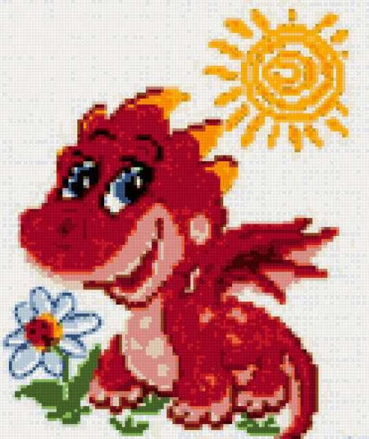 Схема вышивки год дракона фото 181