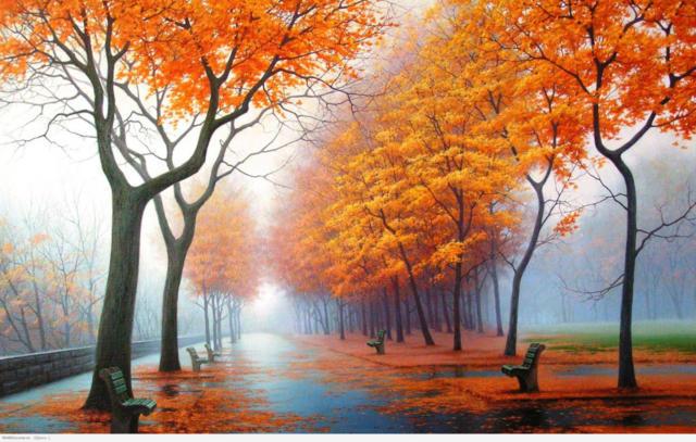 Рыжая осень, оригинал