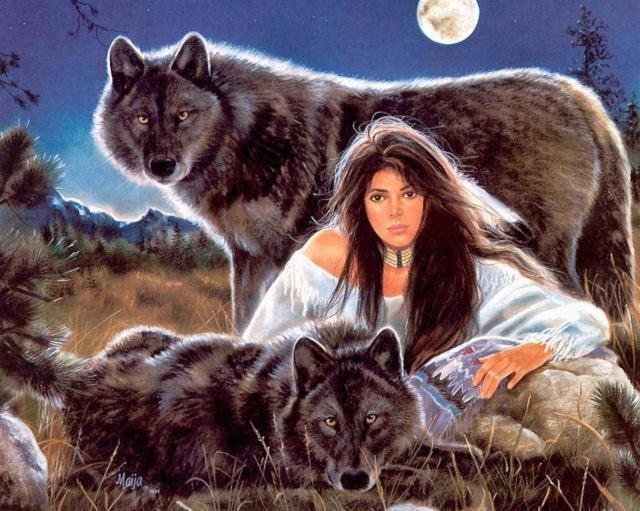 К схеме вышивки «С волками»