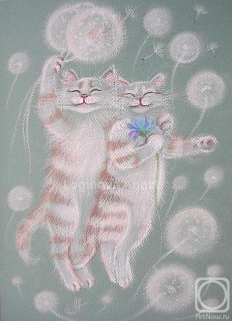 Счастливая пара, пара, котята,