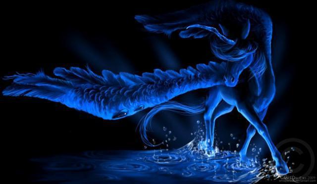 Голубой пегас, оригинал