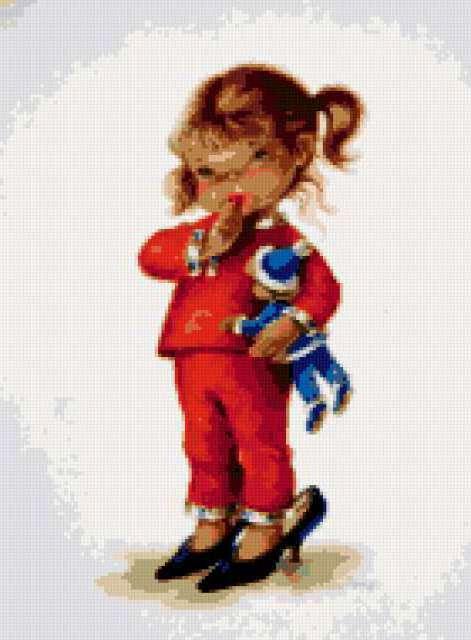 Девочка в туфлях, предпросмотр