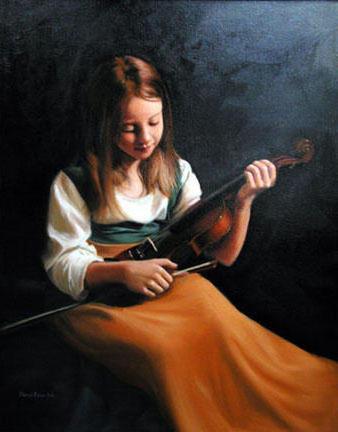 Девочка и скрипка, оригинал