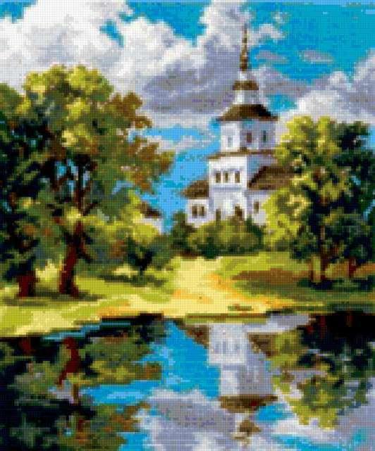 Храм у пруда, предпросмотр