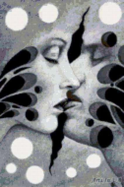 Поцелуй, пара, поцелуй, любовь