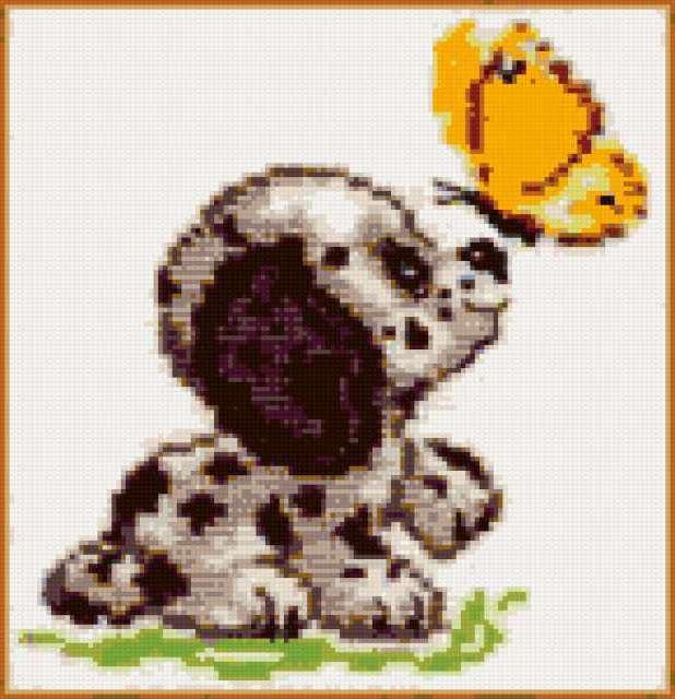 Собачка с бабочкой
