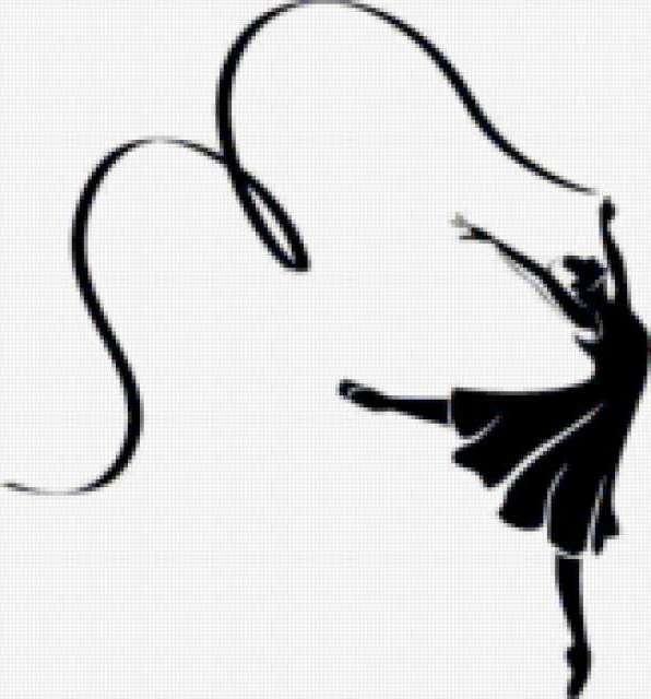 балерина, черно-белое,