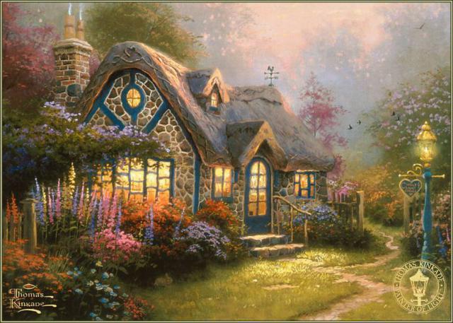 Сельский домик, пейзаж