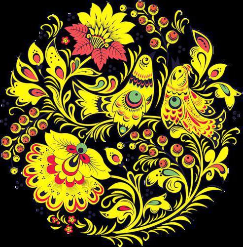 Схема вышивки хохломская роспись