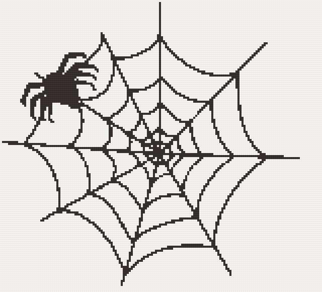 Вышивка крестом схемы пауки