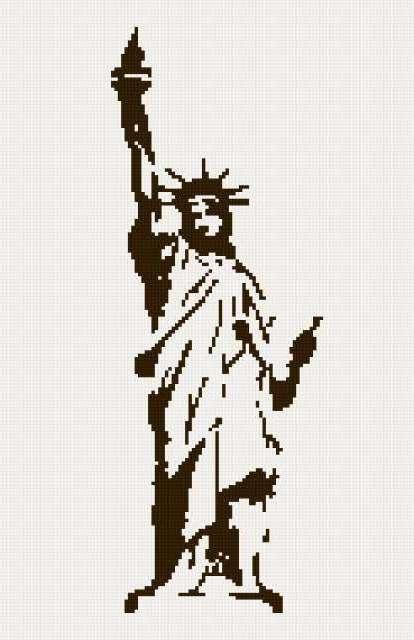 Схема вышивки статуя свободы