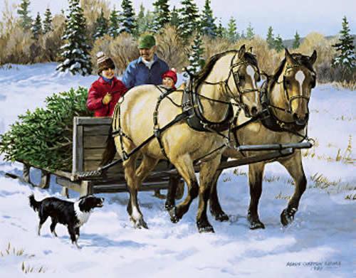 За елкой., рождество, новый