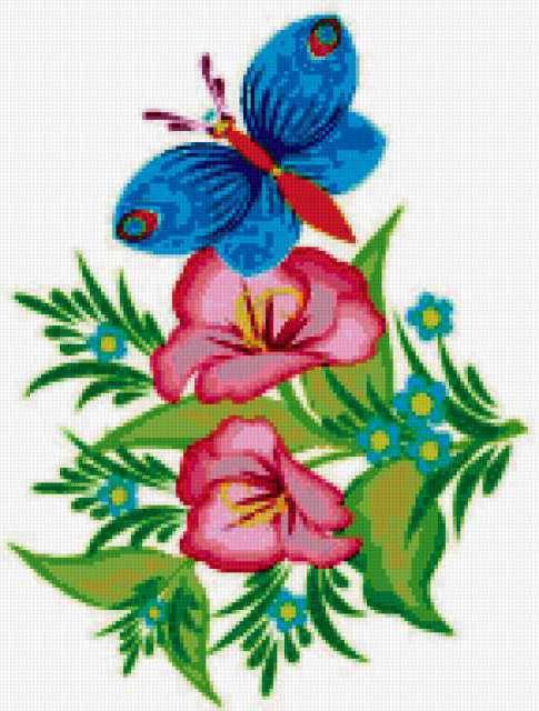 Голубая бабочка, предпросмотр
