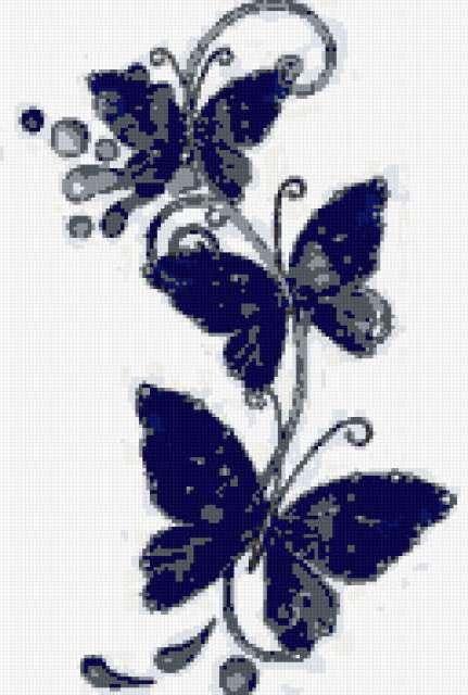 Бабочки для вышивки бисером,