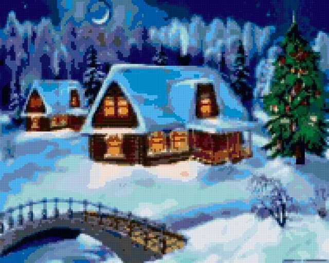 Зимняя деревня, предпросмотр