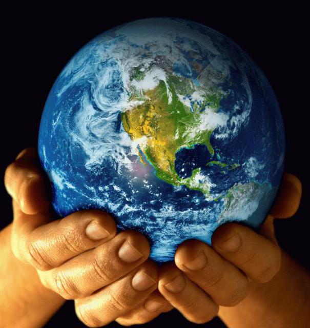 руки, планета, земной шар,