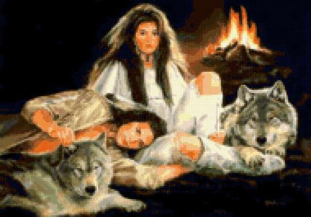 Они, двое, любовь, волки,