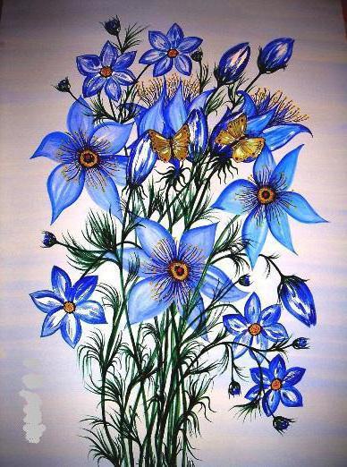 Синие цветы, синие, цветы,