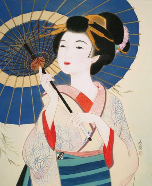Девушка с зонтом. Китай