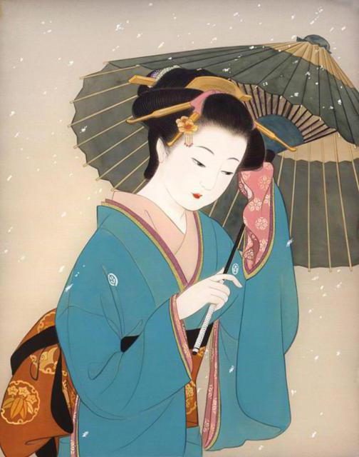 Девушка с зонтом 2. Китай