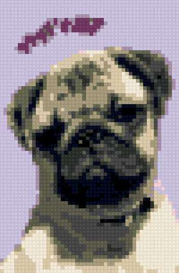 мопс, схема для вышивания