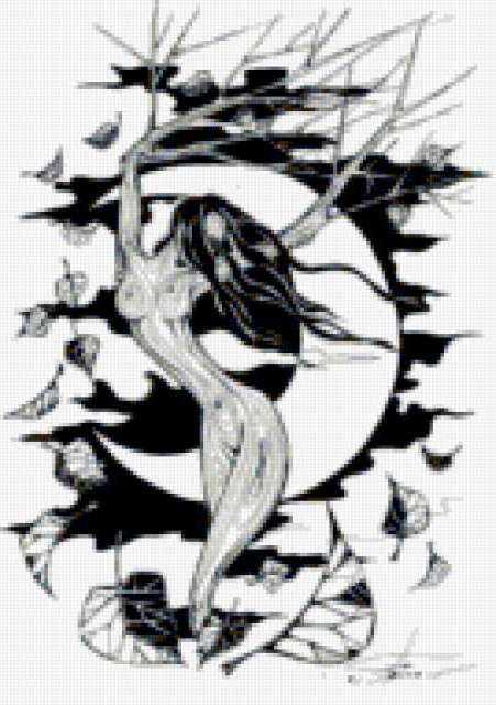 черно белое фото девушка с короной