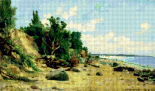 Картины Шишкина.Берег у моря,