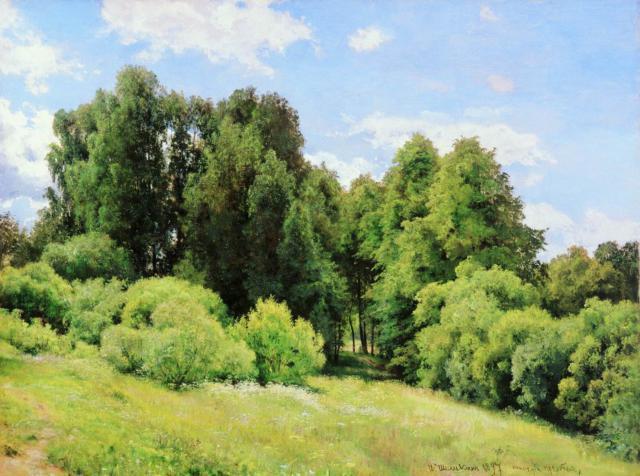 Картины Шишкина.Лесная поляна,