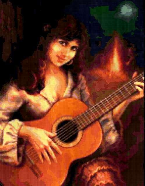 Цыганка с гитарой