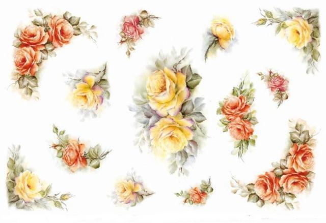 Розы для скатерти и салфетки,