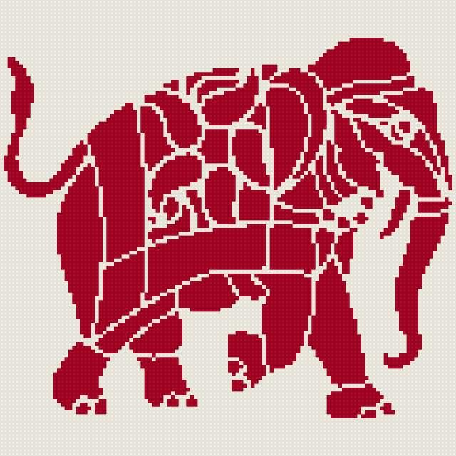 Слон, слон, индия, силуэт.