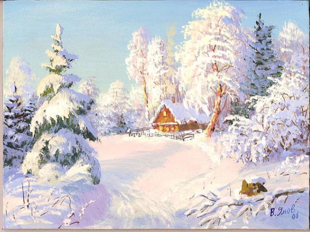 Зимушка зима вышивка