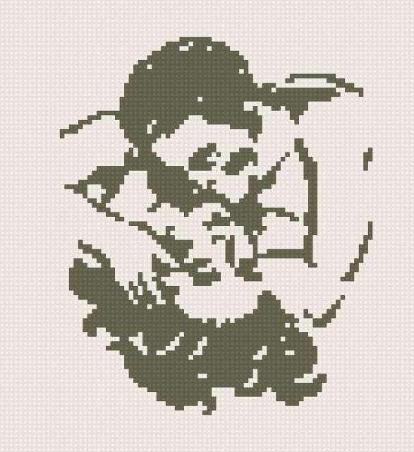 Схемы для вышивок силуэты 33