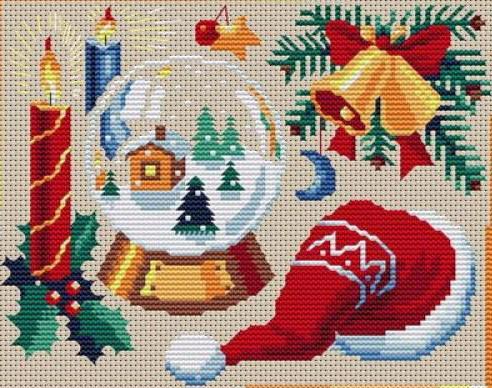 Новогодние открытки схемы вышивок