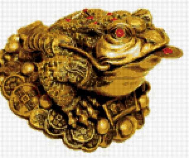 Жаба с монетой, предпросмотр