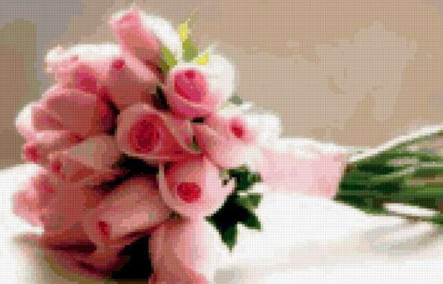 Милый букет из розовых роз),