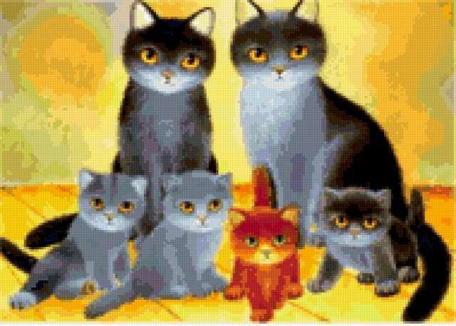 Семейство кошек, предпросмотр