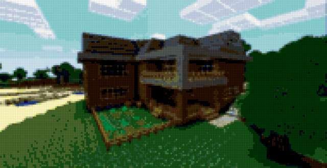 Схема вышивки «Minecraft