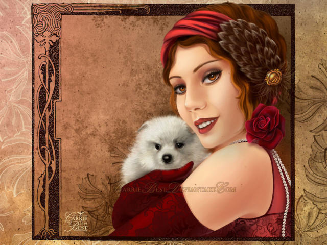 Дама с пуделем, оригинал