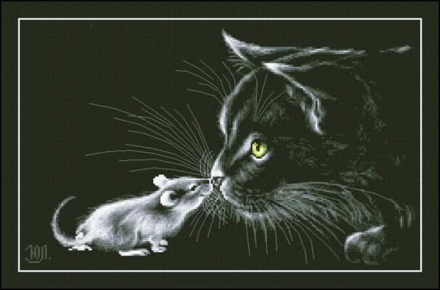 Кот и мышь, оригинал