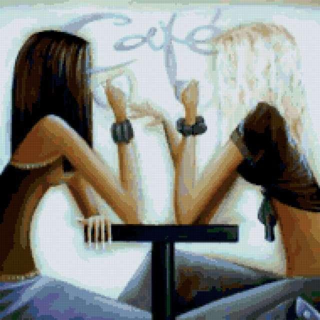 Подружки в кафе, девушка,