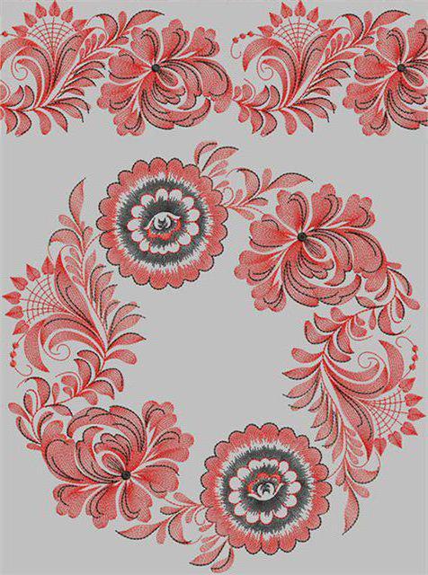 Орнамент для подушки, скатерти