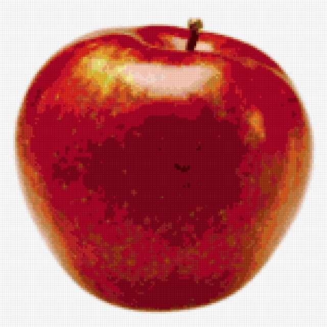 Большое красное яблоко!