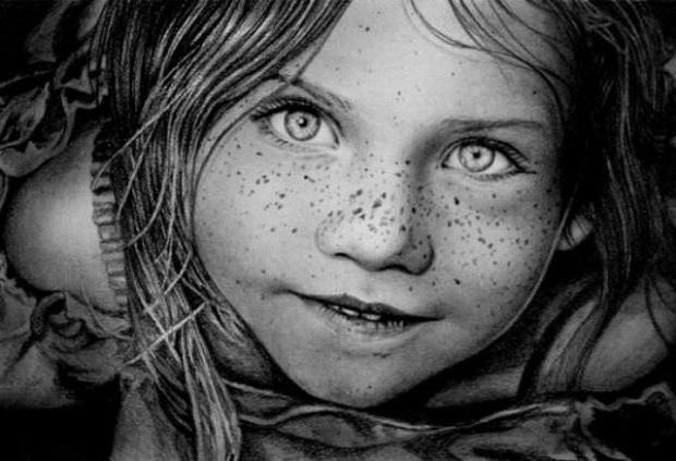 Девочка, нарисованная
