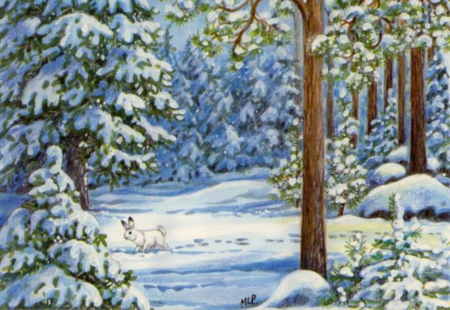 Схема картинки зима