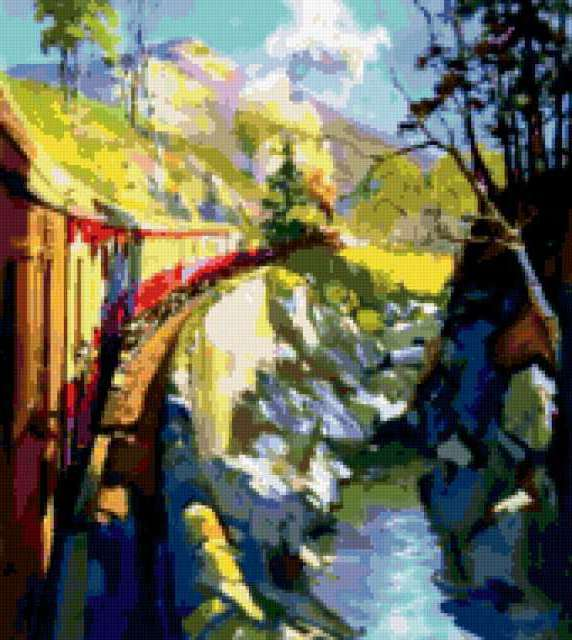 железная дорога, поезд,