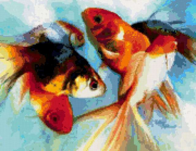 Золотые рыбки, рыбы, рыбка,