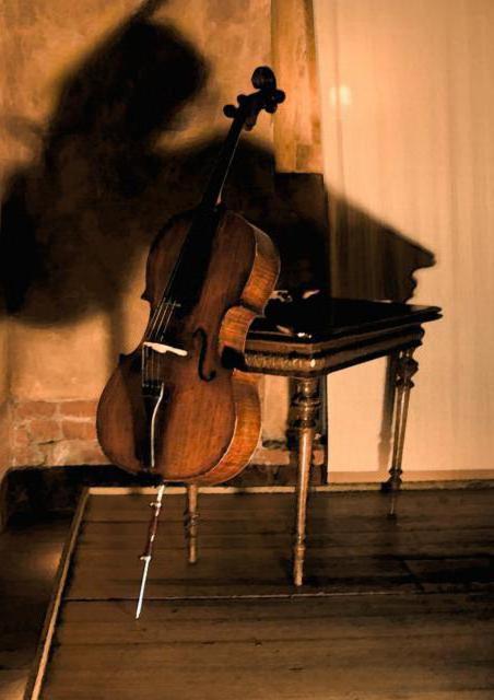 Старинная виолончель, оригинал