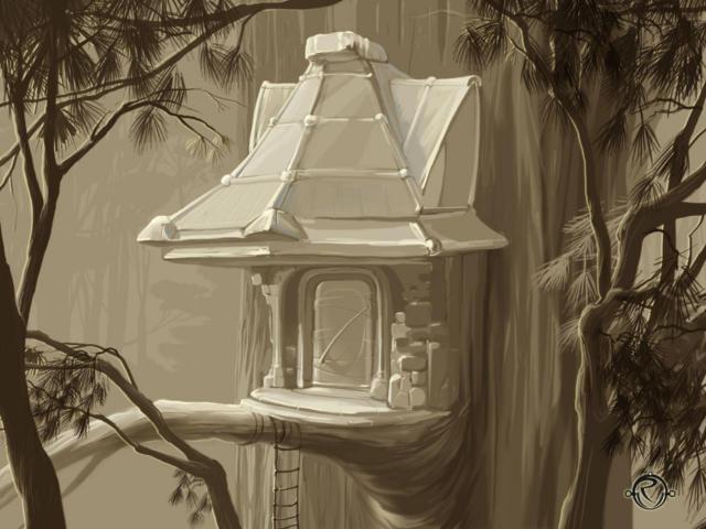 Домик на дереве, домик, дерево