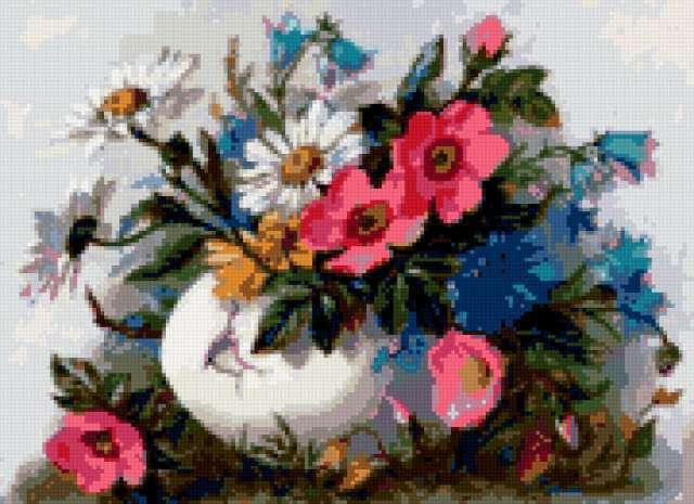 Открытки с букетами из полевых цветов 314